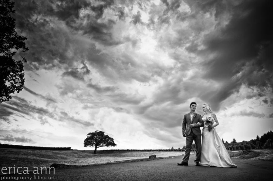 Rainstorm Wedding at Stoller Vineyard