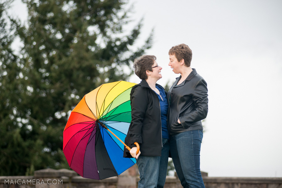 Rocky Butte Engagement Session   Rainbows and Happy | Photographers of Portland