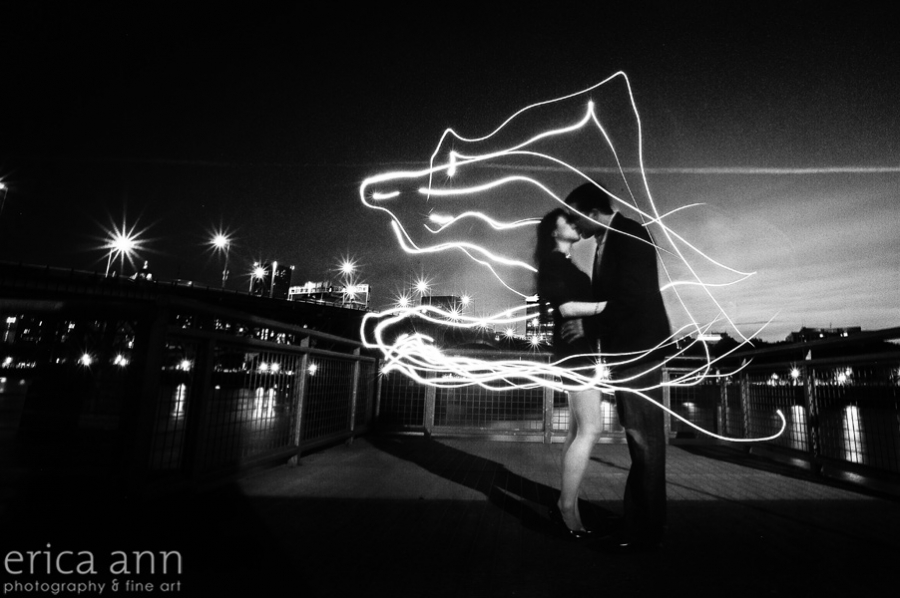 Light Painting on the Portland Waterfront | Photographers of Portland