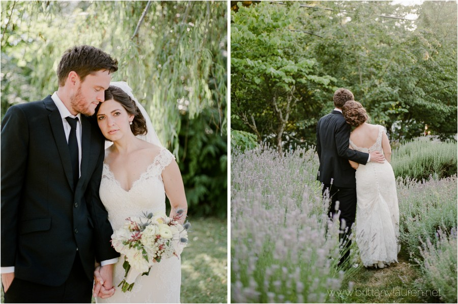 romantic cathedral park portland wedding