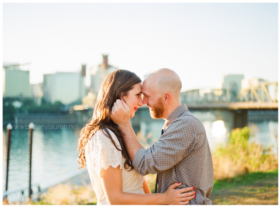 south east portland waterfront engagement session