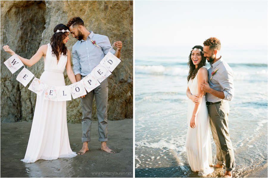 portland wedding photographer - beach elopement