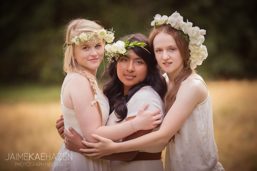 Bohemian senior portrait shoot