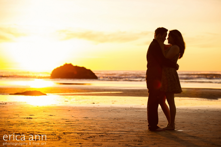 Oregon Coast Sunset Engagement