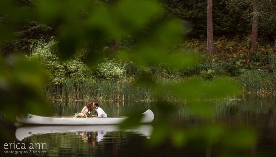 Bridal Veil Lakes Canoe Wedding