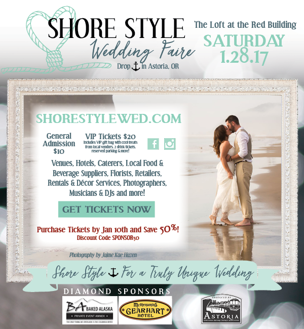 Oregon coast beach destination wedding bridal show