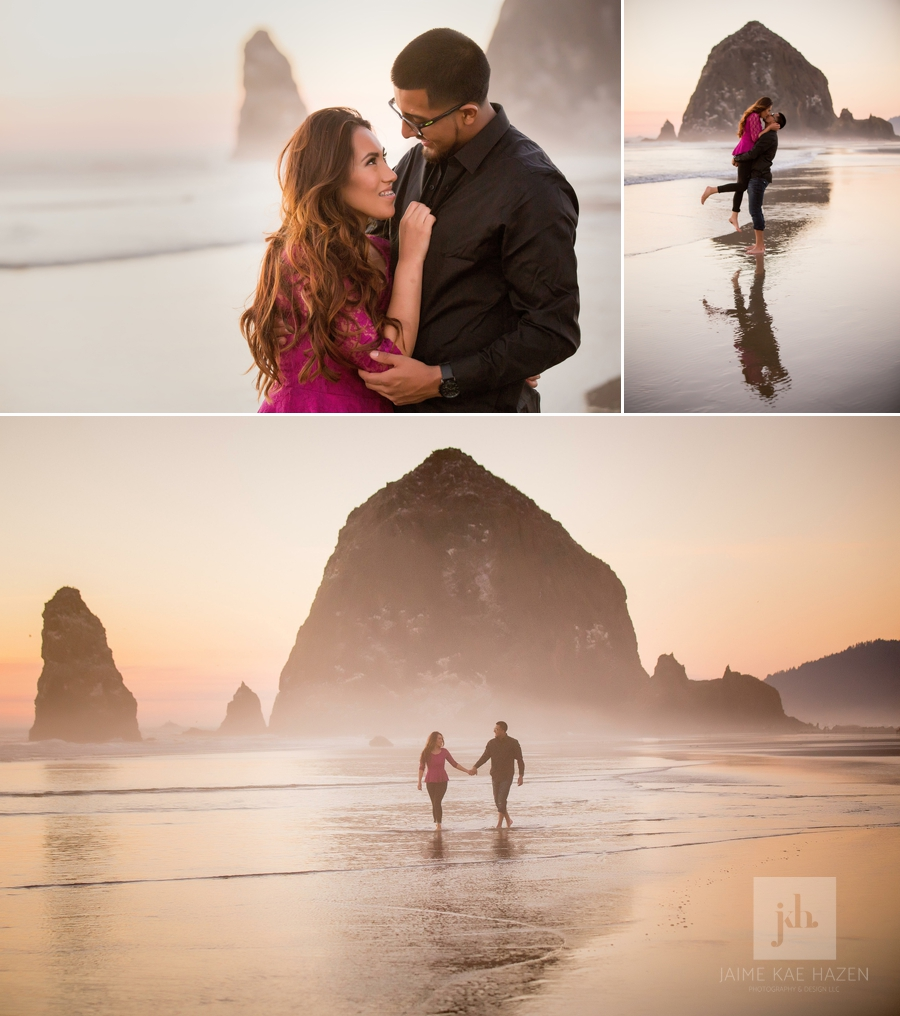 Cannon-Beach-Engagement-Session-at-Sunset