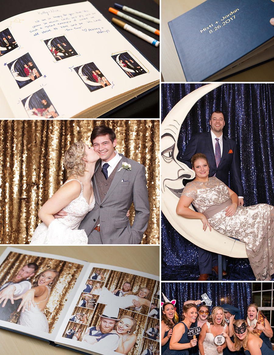 Portland photo booth rental company includes guestbooks, sequin backdrops, and photo books as add-ons to your booking.